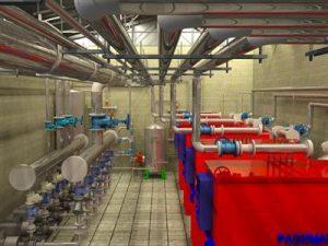 مدل سازی موتورخانه ساختمان
